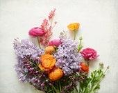 """Blume Stillleben - Ranunkeln Druck - Blumen - botanische Druck - Schlafzimmer-Wand-Kunst - Geschenk für sie - Kindergarten Kunst """"Frühlings-Garten-Blüte"""""""