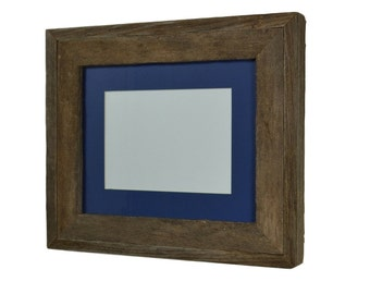 Gallery style wood photo frame 8x10 with 8x6 or 5x7 mat