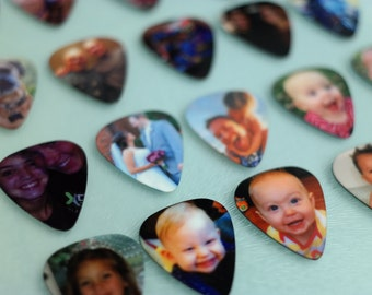 Personalized Guitar Pick, Custom Guitar Pick, Photo Guitar Pick, Double Sided Photo with Text, Keepsake Gift, Great gift idea for Guitarist!