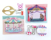 Circus & Merry Go Round Memo Notes (50 sheets/pkg) 32642