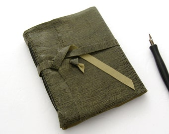 Around The World Adventuring Journal Olive Green Leather Journal Handmade Sketchbook Embossed Reptile Book in Kidskin 3rd Anniversary Gift