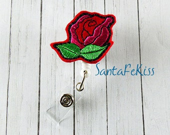 Flower Felt ID Badge Holder with Retractable Badge Reel makes a great gift for Office Worker / Teacher/ Coworker