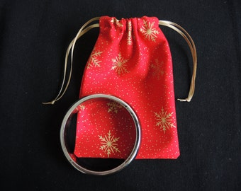 LAST ONE SALE 30% off Christmas gift pouch for any medium items - red ready to ship or ivory, navy, green made to order