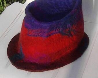 Handfelted hat