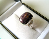 Navajo Purple Spiny Oyster and Sterling Ring Size 7.5