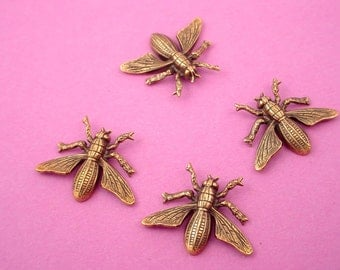 4 brass ox bug wing winged 19x14 outdoor nature museum quality detail