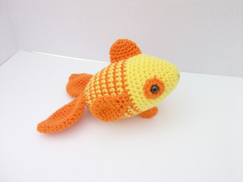 Tropical fish stuffed animal plush toy fish yellow for Fish stuffed animals