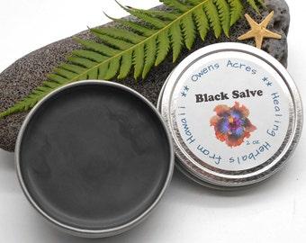 Black Drawing Salve, Activated Charcoal Salve - Herbal Salve, Black Salve, Skin Ointment, Skin Salve, Bug Bites, Splinters, Handmade