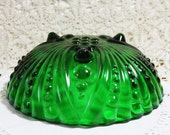 Vintage Emerald (Green) Depression era  Footed Glass Bowl 1940
