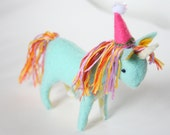 Handmade Unicorn Party Cake Topper