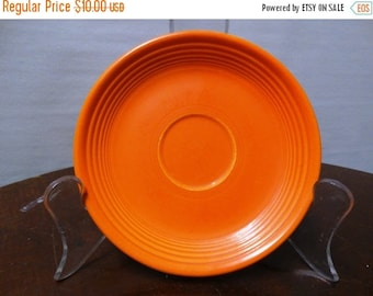 ON SALE Vintage Genuine Fiesta Kitchenware Orange Coffee Saucer retro 50's fruit bowl, classic Dinnerware Art Deco style HLO, Made in Usa