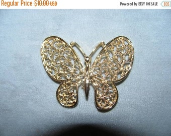 ON SALE Vintage 80's Jewelry Butterfly Pin, Brooch, retro 1980's High Fashion Pin, delicate fashion design style nature lover Fashionista, I