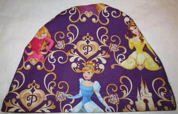 Kid's Chemo Hat, Princesses Children's Cancer Cap, Alopecia, Sleep Cap