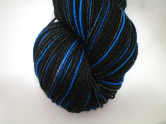 Shadowed Blue - Dyed to Order - Hand Dyed - Merino Wool Yarn - Fingering Weight