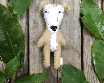 Felt Stuffed Greyhound Dog, Greyhound toy, Stuffed Dog, Greyhound Rescue, Custom Felt Dog