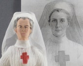 Edith Cavell Nurse Doll Historical Figure World War I War Hero Miniature Art