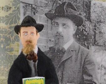 Rainer Maria Rilke German Poet Classic Literature Author Doll Miniature Art