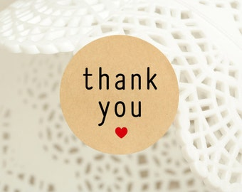 """60 pcs """"thank you with love"""" stickers,labels, envelope seals, round st-ickers 1.25 inch (PSB-3223)"""