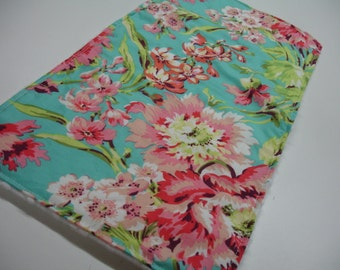 Bliss Bouquet with White Minky Baby Burp Cloth 10 x 20 READY TO SHIP