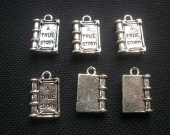 6 A True Story Book Charms