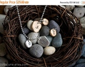 Valentines Day Sale Small Silver Pebble Charm