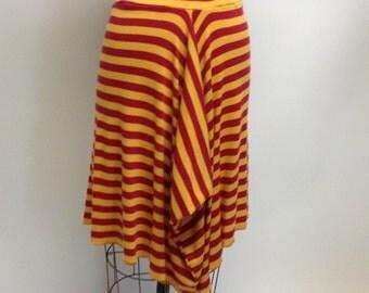 SALE Handmade Cotton knit Stripey Skirt M-L