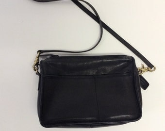80s Vintage COACH Black Crossbody Clutch  bag Shoulderbag
