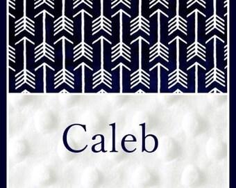 Personalized Baby Boy Blanket~Boy Arrows Blanket~Boy Blanket~Toddler Nap~Infant~Newborn~Nursery~Crib~Lovey~Boutique~Name~Travel~Shower Gift~