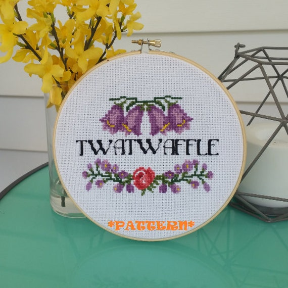 Funny embroidery quote modern counted cross by