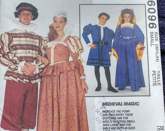 McCalls Medieval Magic Costume Pattern 6096