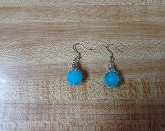 Beautiful Sky Blue Dangle earrings