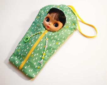 """The Original Blythe Sleepsack from PINKKIS: """"DREAMY"""" Handmade Protective Carrying Pouch"""