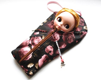 """The Original Blythe Sleepsack from PINKKIS: """"BEAUTIFUL BOUQUET"""" Handmade Protective Carrying Pouch"""