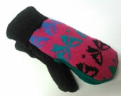 Recycled Sweater Mittens - Medium 3