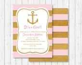 Pink & Gold Nautical Baby...