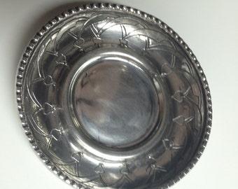 Vintage Islamic Egyptian Silver Saucer - 900 Silver