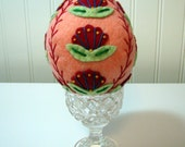 Hand Stitched Wool Designed Easter Egg - Easter Decor - Based on Pysanky Eggs - Home Decor - Easter Eggs - Wool Eggs - Easter