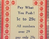 vintage Push Cards – 10 pieces