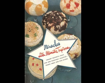 Miracles with Minute Tapioca - Vintage Recipe Book - Illustrated Cookbook - Published by General Foods Corp. - c. 1948