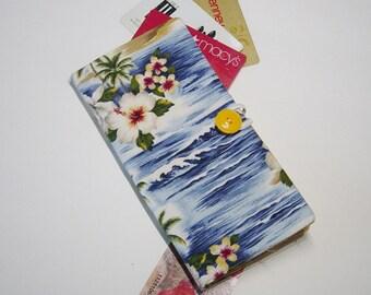 Credit Card Wallet,Loyalty Card Wallet, Business Card Organizer,Card Case,Tropical Beach Fabric Wallet,Business Card Wallet, Gift Idea