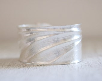 Geb cuff. Sterling silver bracelet. Ancient Egypt, Boho Bangle, Rustic, Egyptian cuff, Boho style, waves, Statement cuff, silver bracelet.