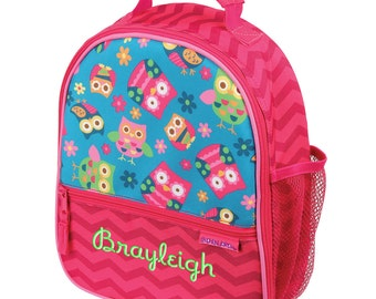 Personalized Lunch Bag Owls, Insulated Monogrammed