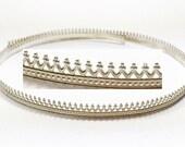 12 Inch (30.5cm) x5.2mm Width Sterling Silver 935 Strip Gallery Decorative Ribbon, Pattern wire (C000166)
