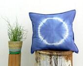 NYMPH . tie dye cushion cover . pillow . throw cushion . decorative pillow . throw pillow . blue . boho gypsy hippie tribal bohemian chic