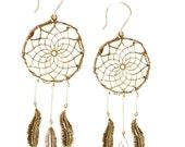 Bronze Dreamcatcher Earrings