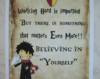 POTTER QUOTES -Wall art, Gift Tags or Notecards and envelopes - hp wct12
