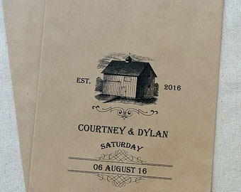Wedding Candy Bag - Rustic Favor Bags - Country Wedding Favor Bags - Rustic Candy Buffet Bags - Barn Wedding - Rustic Wedding