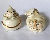 Vintage Onion and Garlic Pots Set