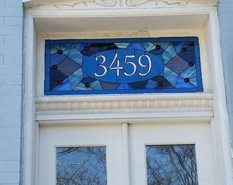 """Stained Glass Transom - """"Victorian Mosaic"""" (TW-68)"""