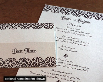 Bianca Menu, Table Marker & Place Card Set